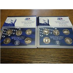 1999 & 2000 US 50 STATE QUARTERS PROOF SETS