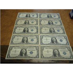 10-1957-A $1 SILVER CERTIFICATES