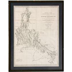 """Central Pacific Railroad Topo Map CA - , - 1871 - 2012aug - """"Railroadiana"""""""