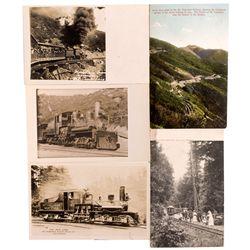 "Mt. Tamalpais Railway Postcards CA - Mount Tamalpais,Marin County - c1920 - 2012aug - ""Railroadiana"""
