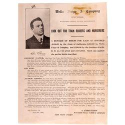 "Wells-Fargo Train Robber Notice CA - San Francisco,1904 - 2012aug - ""Railroadiana"""