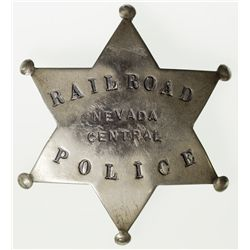 "Nevada Central Railroad Police Badge NV - 2012aug - ""Railroadiana"""