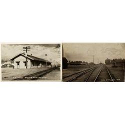Battle Mountain Railroad Station Postcards NV - Battle Mountain,Lander County - 1910, 1953 - 2012aug