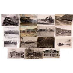"""Assorted Railway Postcards NV - Ely,White Pine County - 2012aug - """"Railroadiana"""""""