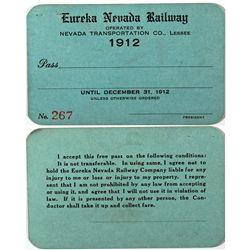 """Eureka Train Pass NV - Eureka,c1912 - 2012aug - """"Railroadiana"""""""