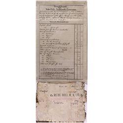 "Ruby Hill Railroad Company Documents NV - Eureka,1879 - 2012aug - ""Railroadiana"""