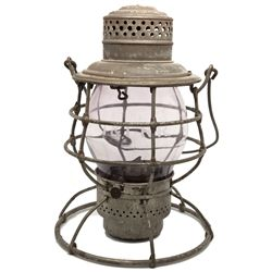 "Tonopah & Tidewater Tall-Globe Railroad Lantern NV - Tonopah,Nye County - c1895 - 2012aug - ""Railroa"