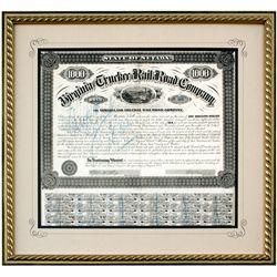 "Virginia & Truckee Railroad Bond Certificate NV - Virginia City,Storey County - 1874 - 2012aug - ""Ra"