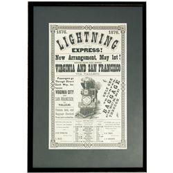 "Virginia & Truckee Railroad Broadside NV - Virginia City,Storey County - 1876 - 2012aug - ""Railroadi"