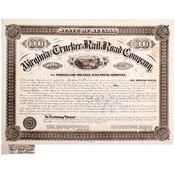 "Virginia & Truckee Railroad Co. Bond NV - Virginia City,Storey County - 1874-1889 - 2012aug - ""Railr"