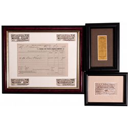 "Virginia & Truckee Railroad Framed Items NV - Virginia City,Storey County - c1882 - 2012aug - ""Railr"