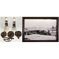 Virginia & Truckee Railroad Locks and Ephemera NV - Virginia City,Storey County - c1870-1940 - 2012a