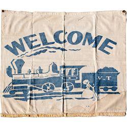 "Virginia & Truckee Railroad Parade Banner NV - Virginia City,Storey County - c1920 - 2012aug - ""Rail"