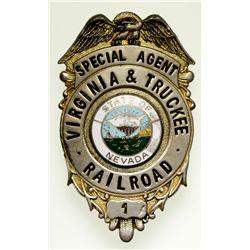 "Virginia & Truckee Railroad Special Agent Badge NV - Virginia City,Storey County -  - 2012aug - ""Rai"