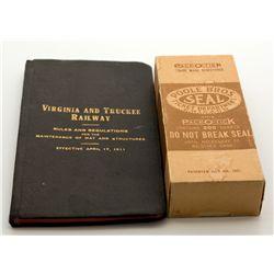 Virginia & Truckee Unopened Box of Railway Tickets NV - Virginia City,Storey County - c1911, 1921 -