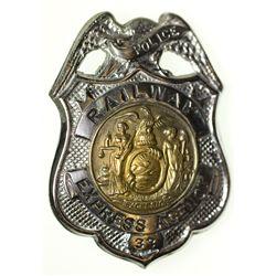 """Railway Express Agency Badge NY - 2012aug - """"Railroadiana"""""""