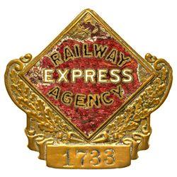 """Railway Express Agency Pin NY - , -  - 2012aug - """"Railroadiana"""""""