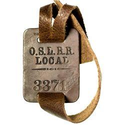 """Oregon Short Line Railroad Tag OR - 2012aug - """"Railroadiana"""""""