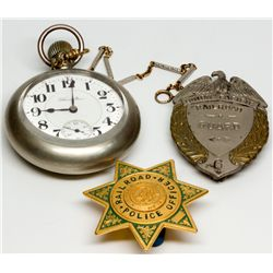 """Union Pacific Badges and Railroad Watch UT - c1917 - 2012aug - """"Railroadiana"""""""