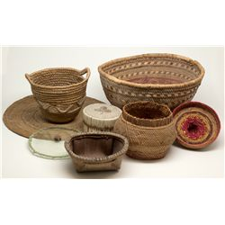 American Indian Basket Group 2012aug - Cowboy & Native American