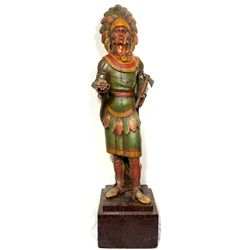 Cigar Store Indian, Resin Reproduction  - , - c1970 - 2012aug - Cowboy & Native American