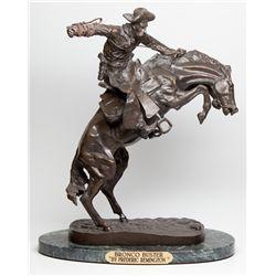 Remington Bronze Reproduction 2012aug - Cowboy & Native American