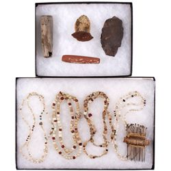 Trade Beads, Comb, and Tools AZ - , -  - 2012aug - Cowboy & Native American