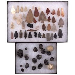 Arrowheads and Marble Set CA - 2012aug - Cowboy & Native American