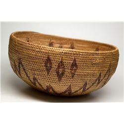 Shoshone Mono Basket CA - Death Valley,Mono County - c1900-1930 - 2012aug - Cowboy & Native American