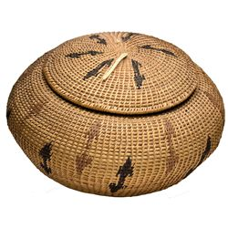 Washoe Indian Basket NV - , - c1930 - 2012aug - Cowboy & Native American