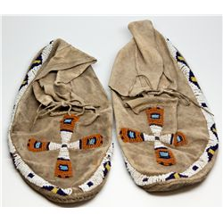 Beaded Moccasins SD - , - c1900 - 2012aug - Cowboy & Native American
