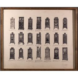 Vintage Nickel Slot Machines Print  - , - c1900 - 2012aug - Gaming