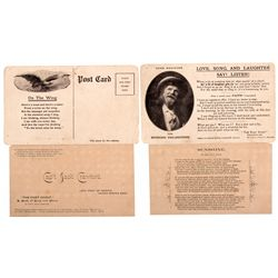 """Captain Jack"" Crawford Poetry Cards c1910 - 2012aug - General Americana"