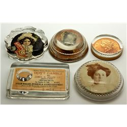 Advertisement Glass Paper Weights 2012aug - General Americana