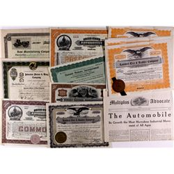 Auto Stock Certificate Collection 2012aug - General Americana
