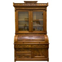 Ornate Virginia City Victorian Secretary c1875 - 2012aug - General Americana