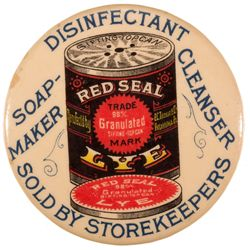 Red Seal Lye Cleaner Mirror c1915 - 2012aug - General Americana