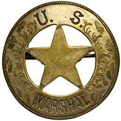 U.S. Marshal Badge c1880 - 2012aug - General Americana
