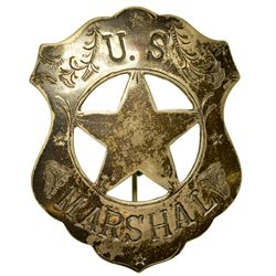 U.S. Marshall Badge c1880 - 2012aug - General Americana