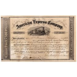 Wells Fargo - Butterfield & Fargo Signed Amex. Stock Cert. 1857 - 2012aug - General Americana