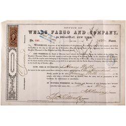 Wells Fargo - Henry Wells' Stock 1870 - 2012aug - General Americana