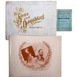 Native Sons & Daughters of the Golden West Book Duo CA - 1899 - 2012aug - General Americana