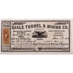 Eagle Mine Co. Stock Certificate CA - Aurora,Mono County - 1863 - 2012aug - General Americana