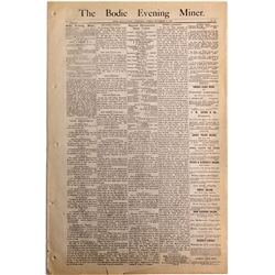 Bodie Evening Miner Newspapers CA - Bodie,Mono County - 1882 - 2012aug - General Americana