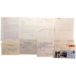 Business Correspondence Bodie, Nevada, Mono County Collection CA - Bodie,Mono County - 1903-1915 - 2