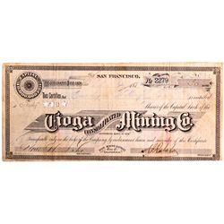 Tioga Consolidated Mining Company Stock CA - Bodie,Mono County - 1879 - 2012aug - General Americana