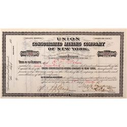 Union Consolidated Mining Co. Stock CA - Bodie,Mono County - 1881 - 2012aug - General Americana