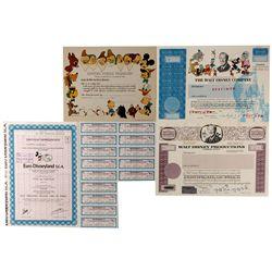 Disney Bonds and Stock Certificates CA - Burbank,Los Angeles County - c1940 - 2012aug - General Amer