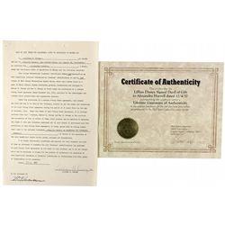 Disney, Lillian, Signed Tranfer of Walt Disney Production Stock CA - Burbank,Los Angeles County - 19