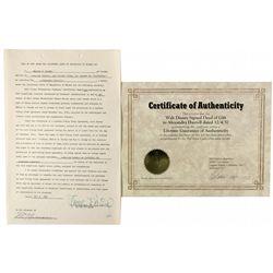 Disney, Walt Signed Transfer of Stock CA - Burbank,Los Angeles County - 1957 - 2012aug - General Ame